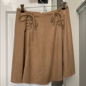 Suede-like Skirt